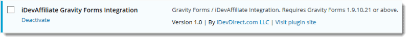 gravity forms affiliate plugin