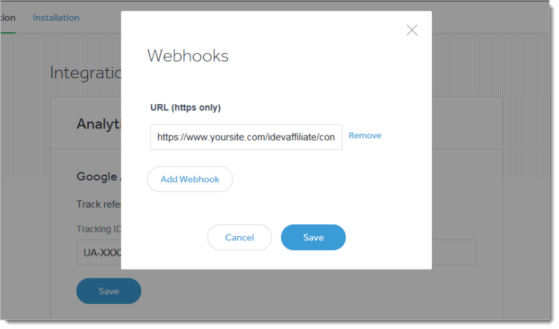 celery webhook for affiliate tracking